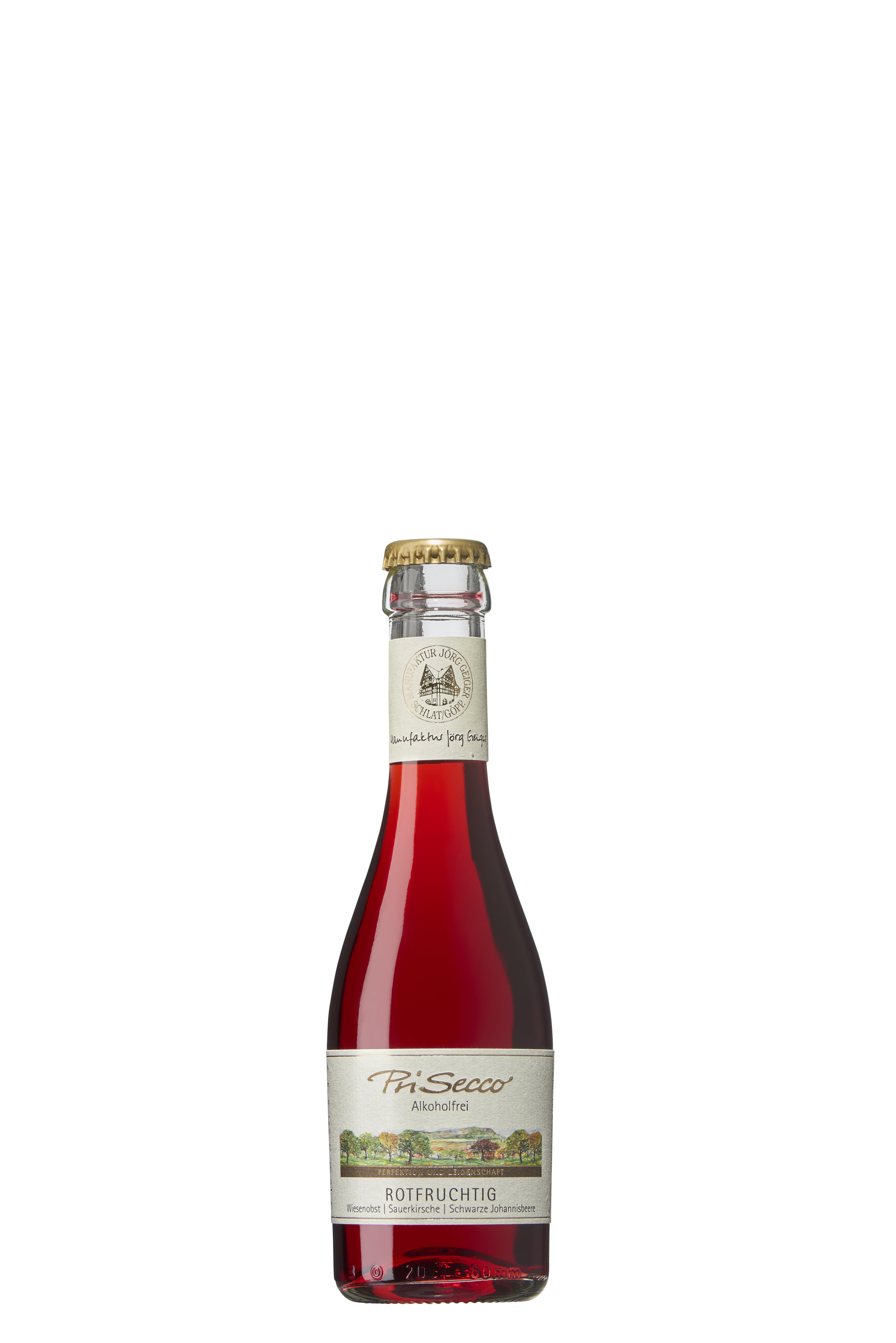 """PriSecco  """"rotfruchtig""""  -alkoholfrei-  0,2 l"""